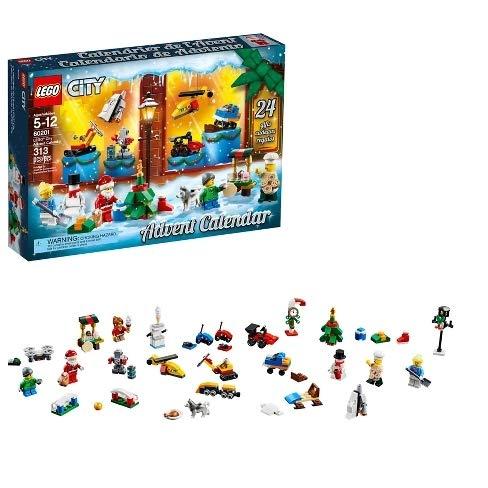 LEGO City Advent Calendar 2018 Newest 60201 Minifigures Small Building Toys, Christmas Countdown Calendar for Kids (313 Pieces)