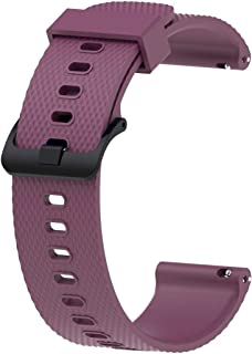 Consumer Electronics Silicone Sport Wrist Strap for Garmin Vivoactive 3 20mm (Black) (Color : Purple)