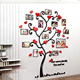 Alicemall Sticker Mural Cadre Photo Autocollant Mural Chambre 3D Décoration Murale Chambre(Style 4(Feuilles Coeur))