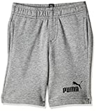 PUMA Ess Sweat Shorts B Garçon, Medium Gray Heather, 176