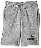 PUMA Ess Sweat Shorts B Garçon, Medium Gray Heather, 140