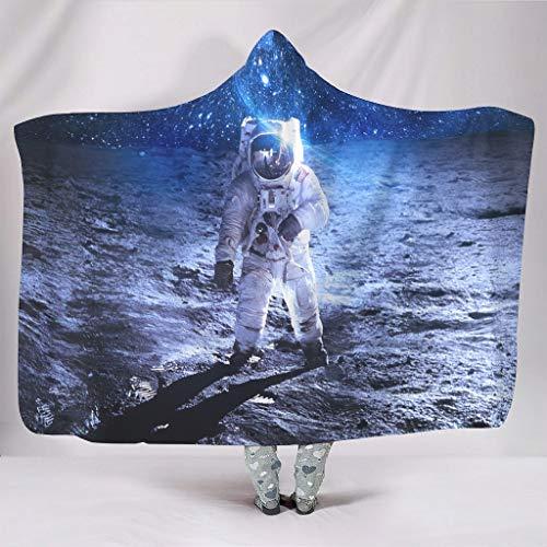 Wandlovers zacht met capuchon plafond fantasie astronauten maan nachtserne blauw Galaxie universum kunstwerk druk pluche Sherpa nieuw omhang van de waaiers slaapkamer