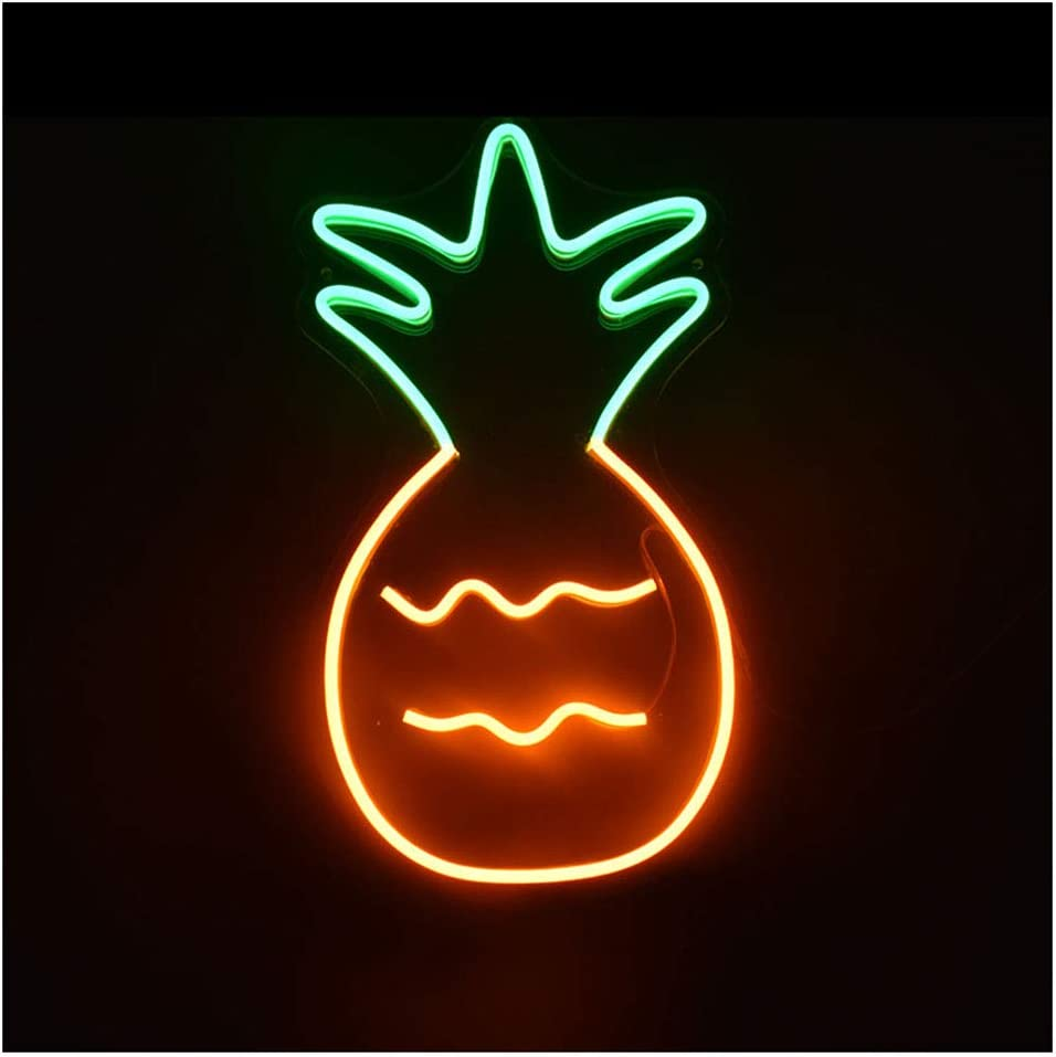 WANGF Led Neon Translated Max 76% OFF Signs for Wall B Light Decor Pineapple Color