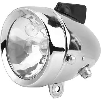 12V 6W Universal Motocycle Bicycle Bike Generator Headlight Tail Light Chorme US
