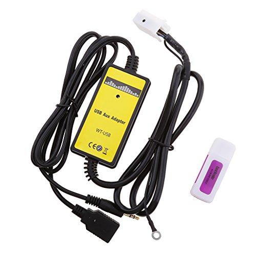 MagiDeal 3.5mm Voiture USB Aux-in Lecteur MP3 Radio 6 + 6pin Adaptateur pour Siège Skoda Audi VW