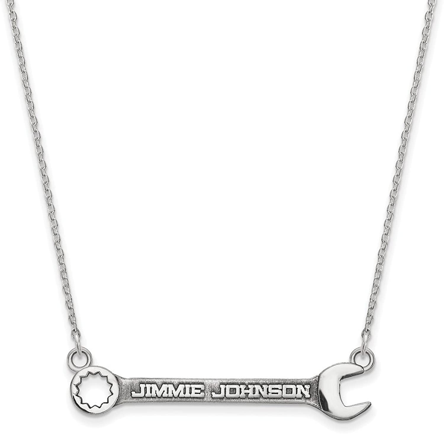 Beautiful Sterling silver 925 sterling Sterling Silver Ant LogoArt NASCAR  48 Jimmie Johnson Wrench Necklace