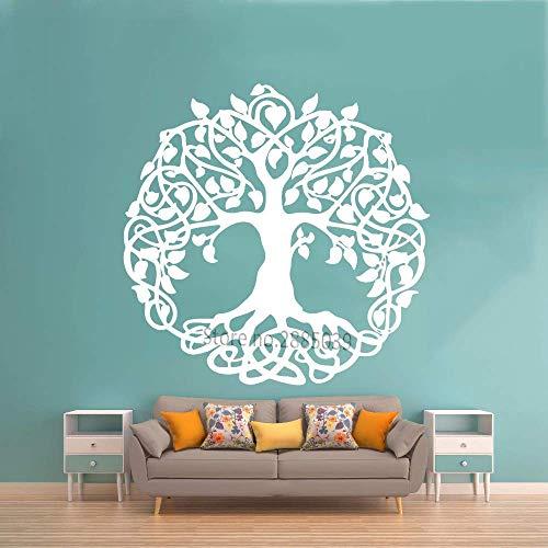 Heiliger Baum Wandtattoo Baum des Lebens Vinyl Aufkleber für Wand oder Fenster Wohnkultur Garten Eden Große Bäume Yoga 57X56Cm