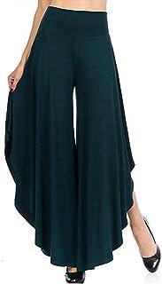 STARBILD Women's High Waist Palazzo Wide Legs Yoga Pants Layered Flowy Loose Flared Pants
