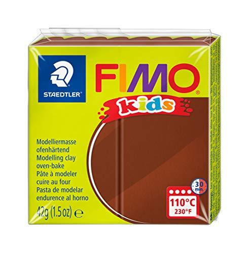 STAEDTLER 8030-7 - Fimo Kids Normalblock, 42 g, braun