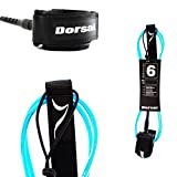 DORSAL Premium Surfboard 6, 7, 8, 9, 10 FT Surf Leash - Blue 8 FT Longboard/Blue