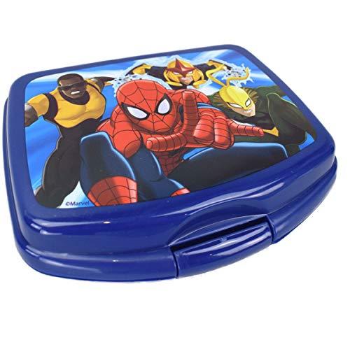 Le fantasie di casa Snack Desayuno lonchera en Comida plástica para niños Spiderman Imprime Producto Seguro con Licencia Marvel