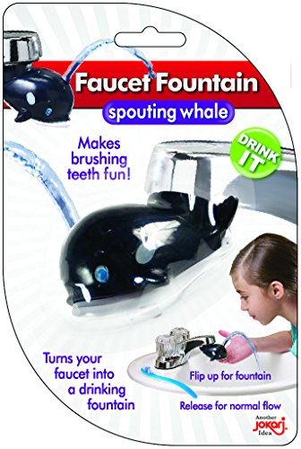 Jokari Water Faucet Drinking Fountain for Kids 3 Pack of Whales. Attach to Any Standard Kitchen or Bathroom Spout to Turn It Into A Bubbler to Make Teeth Brushing and Rinsing Time Fun for All Ages.