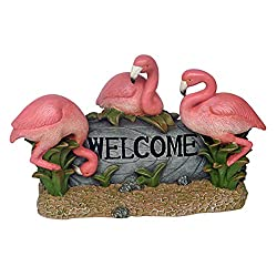 Image: Design Toscano Pink Flamingo Welcome Statue, Multicolored