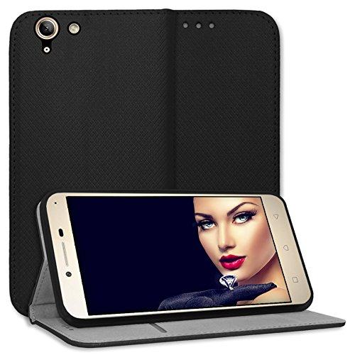mtb more energy® Schutz-Tasche Bookstyle für Lenovo K5 / K5 Plus (5.0'') -schwarz - Kunstleder - Cover Hülle Hülle