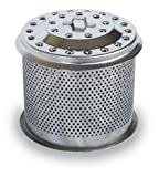 LotusGrill M 340 Series Stainless Steel Charcoal Container, Silver, 13.8 x 13.6 x 12.4