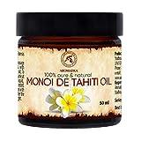 Aceite de Monoi de Tahiti 50ml - Cocos Nucifera - Francia - 100% Natural - Prensados en Frío - Multifuncional - Humectante - para el Rostro - Cabello - Piel - Relajación - Masaje - Cuidado Corporal