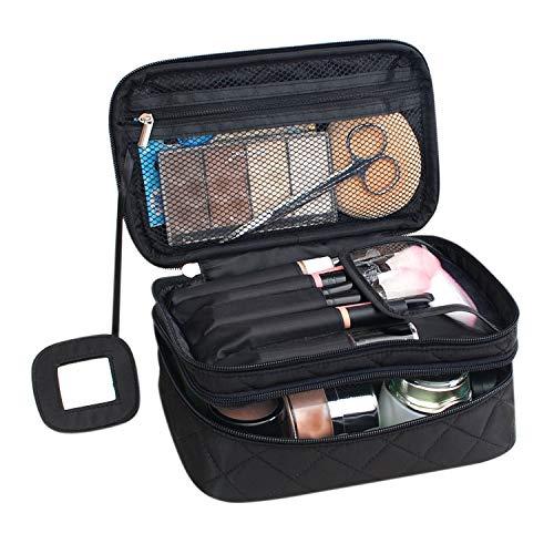 Boodtag Make-up-Tasche Schminktasche Multifunktionale Handtasche Make Up Organizer Kosmetiktasche für Kosmetik Aufbewahrung mit Spiegeln