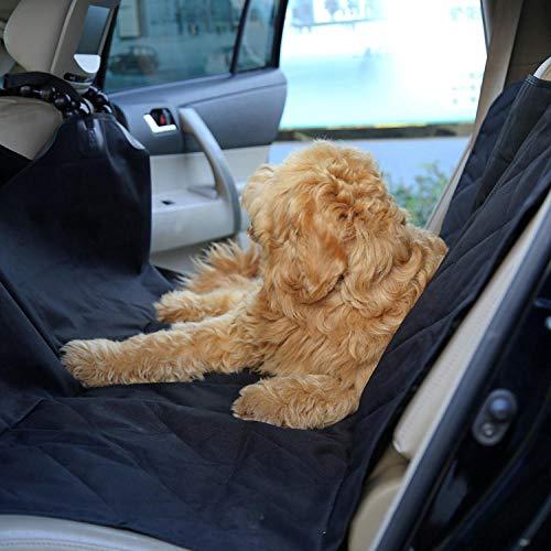 Perro Patas Negro Protector Sillas Coche Perro para Perros Pequeños, Asiento de Coche Elevador Portátil para Mascotas, Impermeable y Plegable, Asiento de Coche para Cachorros con Cinturón de Segurida