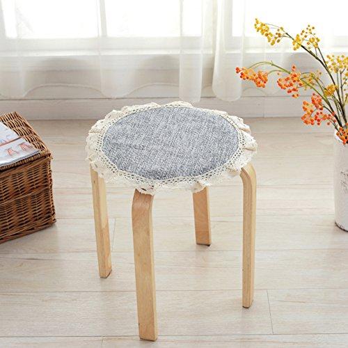 VDEGHSDGHFDDS kleine ronde kruk afdekking katoenen doek, simpel rond kussen afzonderlijke ronde stoelkussens stoel stoelkussen Durchmesser30cm(12inch) E