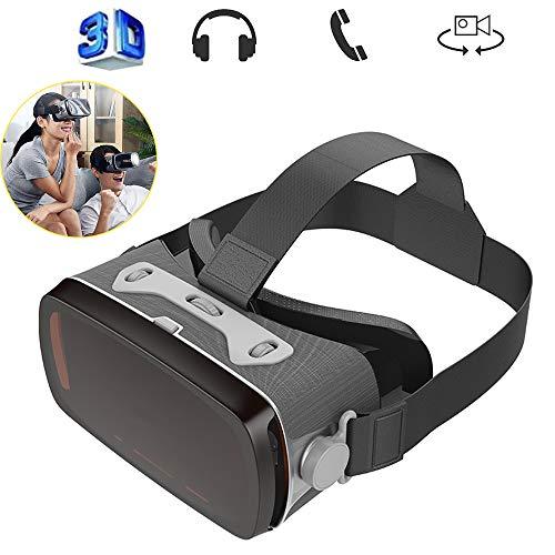 WJH9 VR Auricolare, Realtà virtuale Cuffia, Occhiali 3D, VR Occhiali, Wvirtual Realtà Casco 3D Supporta i telefoni Grande Schermo per iPhone e Android di Huawei per 4.0-6.0 Pollici,2 pc