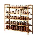 XBCDX Zapatero de bambú para Entrada de 5 Niveles, Estante de Almacenamiento Simple para Sala de Estar, baño, Estudio, 2 tamaños (tamaño: 80 Veces; 25 Veces; 88 cm, Color: Color n. ° 1)