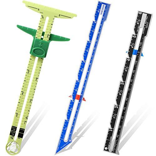 3 Stück Schieblehre Messung Nähen Werkzeug Set Messung Nähen Gauge 5-in-1 T-Geformt Schieblehre Lineal Stoff Quilten Lineal für Anfänger Stricken Basteln Nähen Lieferung
