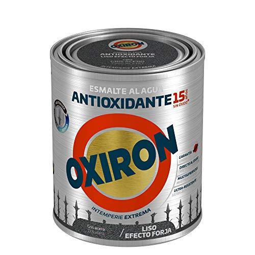 Titanlux - Esmalte antioxidante Titan Oxiron al agua Liso efecto forja, Gris, 750ML (ref. 01E420234)