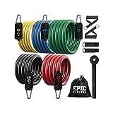 Epic Fitness 10-150 lb Stackable Resistance Band Set
