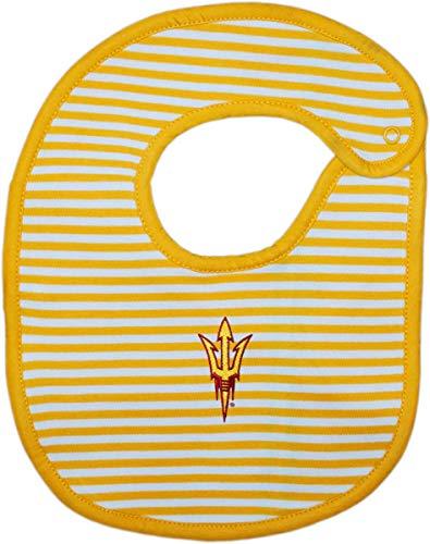 Arizona State University Trident Striped Baby Bib