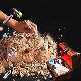 Clicke Gem Dig Kit Dig Up 18 Gemme Vere | Grande Scienza, Gemmologia, Miniere Regalo Rocce, Minerali, Giocattoli di Scavo con Scatola di Immagazzinaggio di Pietre Preziose