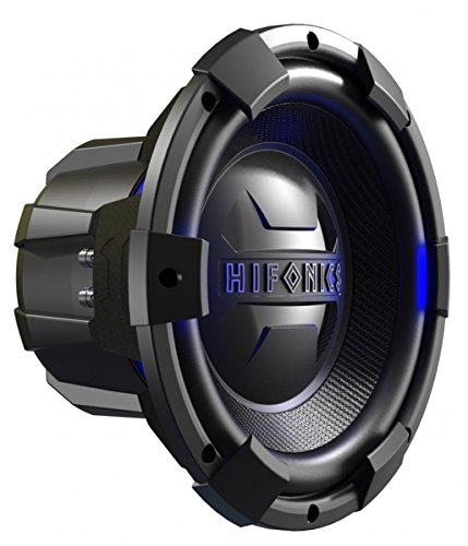 Hifonics BRX12D4 Brutus 12 Inch Subwoofer, Dual 4 Ohms, 900W Max Power, 450W RMS, Multi Layer Voice Coil, Blue Illuminated Rim, Hard Hitting Car Audio Speaker (1 Speaker)