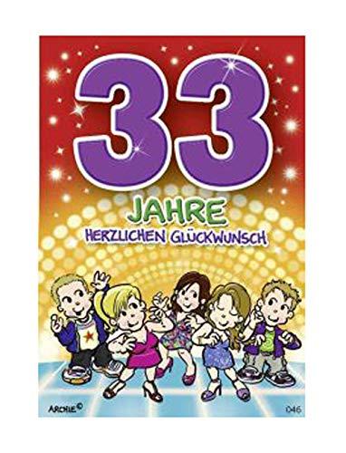 Depesche 5598.046 - Glückwunschkarte mit Motiv von Archie, 33. Geburtstag
