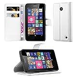 Cadorabo Hülle für Nokia Lumia 630/635 in ARKTIS WEIß -