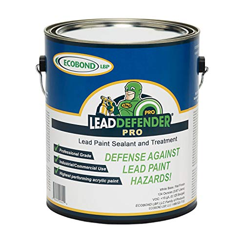 ECOBOND LBP Lead Defender Seal & Treat Lead Paint ECO-LBPLD-PRO-1001P ECOBOND Defender Pro Lead Based Paint Treatment and Sealant 1 Gallon White