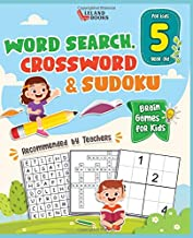Brain Games for 5 year olds: Word Search, Crossword & Sudoku (Brain Games for Clever Kids)
