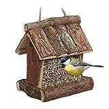 Relaxdays Mangeoire pour Oiseaux en Bois, à Suspendre, HLP 17 x 15 x...