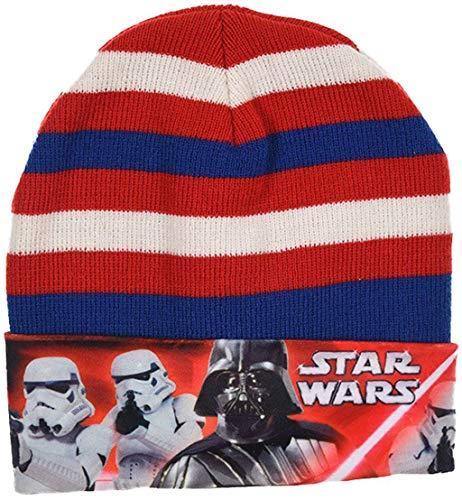 Disney Star Wars Mütze Darth Vader für Kinder verschiedene Größen (Rot-Blau, 54)