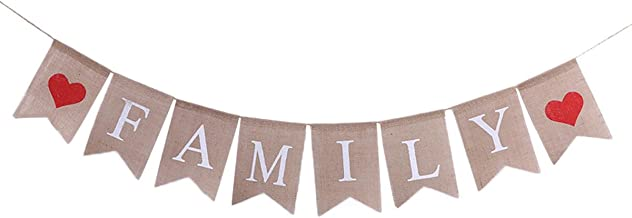 Family Bunting Banner Family Reunion Photo Prop Party Banner for Home Decoration Family Party (2)