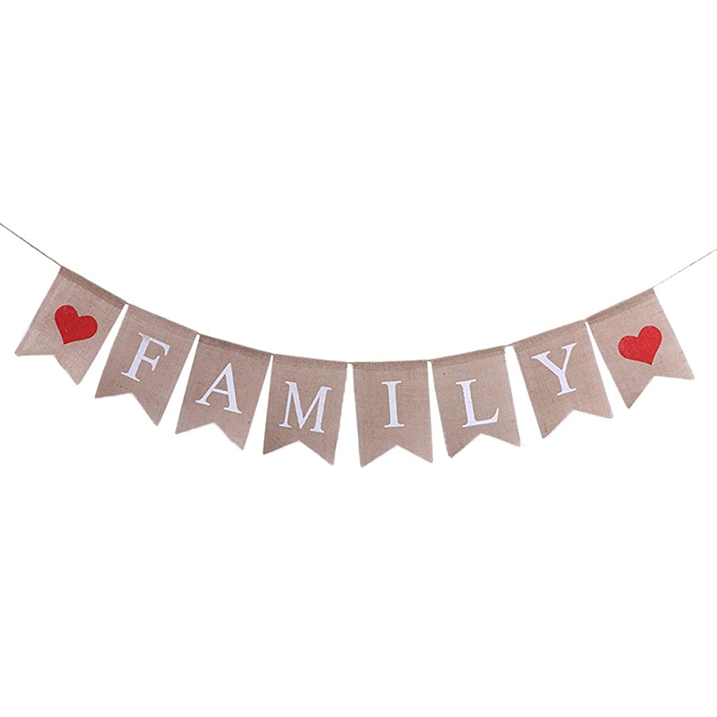 TINKSKY FAMILY Bunting Banner Family Photo Prop Family Reunion Party Banner for Home Decoration Family Party