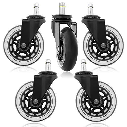 Rollerblade Style Polyurethan Ersatz Räder Bürostuhl Caster Wheels für Ihren Schreibtisch Stuhl Ruhige Rollläden Perfekt für Hartholz Fußböden Teppich Laminat und Fliesen
