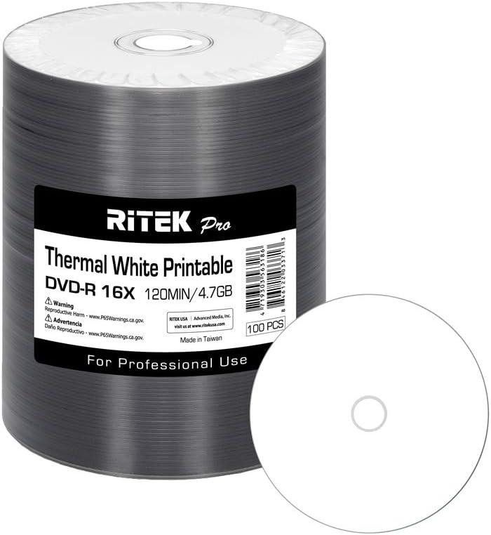 100 Pack Ritek Pro Professional Grade AZO 16X Dye 4.7GB DVD-R Max 75% OFF Arlington Mall