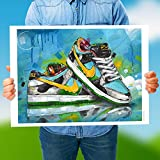 Nike SB Dunk Low Ben & Jerry's Chunky Dunky (70 x 50 cm), sin marco