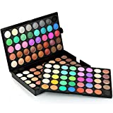 Han Shi Makeup Palette, 120 Colors Cosmetic Powder Cream Eyeshadow Matt Makeup Set (Black, L)