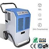WIS Luftentfeuchter 60L/Tag bis zu 300 m (~150 m) automatische Entfeuchtung5.5L Groer Wassertank24h-TimerbetriebLuftreinigungsfunktionAbtaufunktion