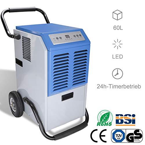 Hengda Luftentfeuchter tragbarer Raumentfeuchter Entfeuchtungsbereich (60L)