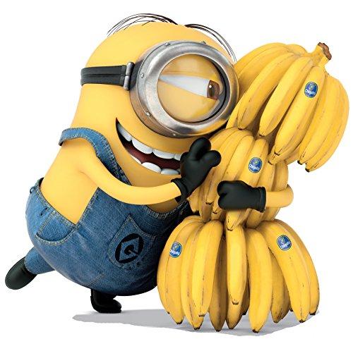Marvel & Minions verschieden späht Kinder-Lieblings-Charaktere 35cm oder 70cm Wandtattoo, Vinyl, Motiv: Wandkunst, Customise4U™ (minion banana, 350mm)