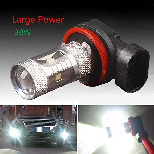 Hjuns® 2 pcs 30 W 720lms HID Blanc H8 Ampoules LED DRL Brouillard/Lampe de Conduite