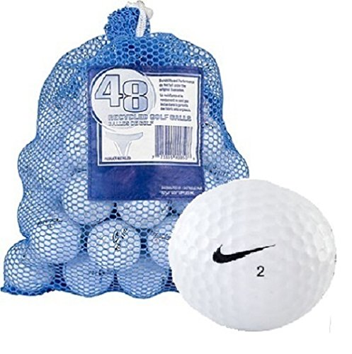 Nike One 48 AAA+ Ball Bag with Mix White Recycled Golf Balls, White