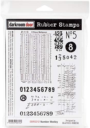 DARKROOM DOOR Cling Stamp MDL, us:one size, Number Medley