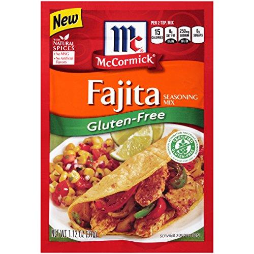 McCormick Gluten Free Fajitas Seasoning, No MSG Seasoning, 1.12 oz (Pack of 12)